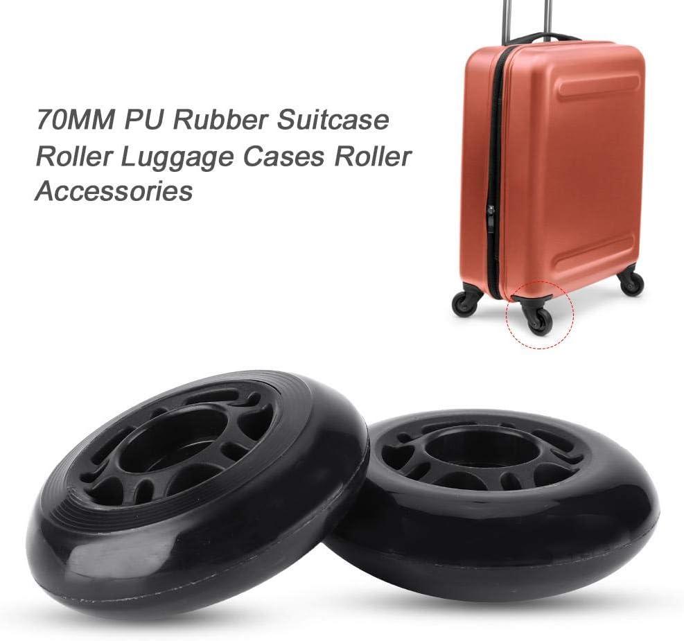 cl/é Roulement /à billes essieux r/éparation OD 70/mm Dilwe 1/paire en caoutchouc bagages Valise Roues avec vis