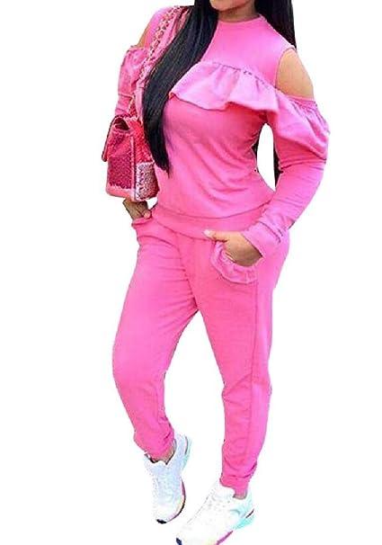 Doufine-Women Clothing - Chándal para Mujer con Hombros ...