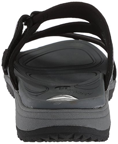 Scholl's Leather Black Slides Women's Action Day Dr TwRqU7R
