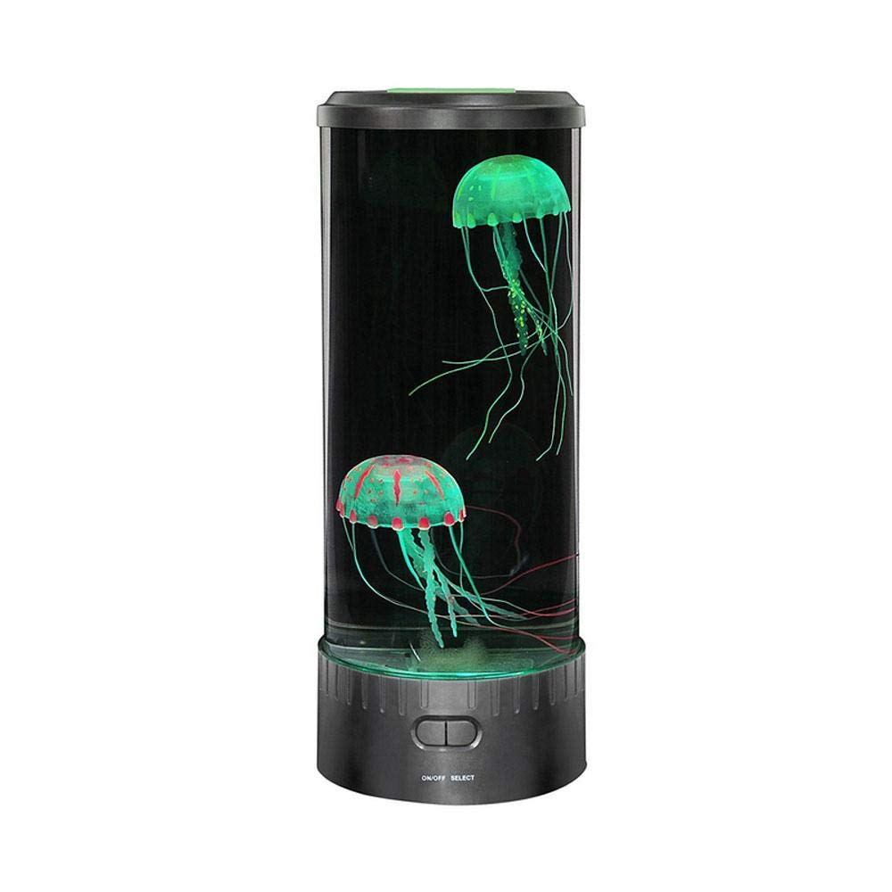 Teepao LED Fantasy Jellyfish Lampe Runde mit 7 Farbwechsel Lichteffekte, Jelly Aquarium Aquarium Stimmung Licht fü r Kids Home Dekoration Magic Lamp