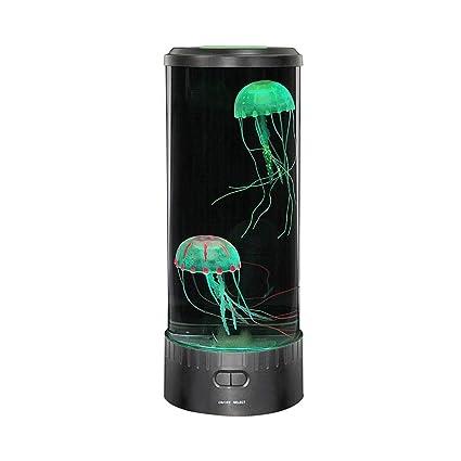 Teepao LED Fantasy Medusa Lámpara Redonda con 7 Colores Que Cambian los Efectos de Luz,