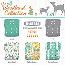Thirsties Package-Snap One Size All in One-Woodland Collection, Fallen Leaves