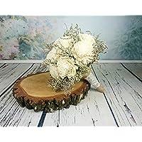 Large Ivory Rustic Sola Flowers Wedding Bouquet