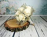 Large Ivory Rustic Sola Flowers Wedding Bouquet