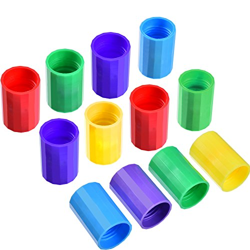 TecUnite 12 Pieces Bottle Connectors Tornado Connector Cyclone Tube for Scientific Experiment and Test, 5 Colors