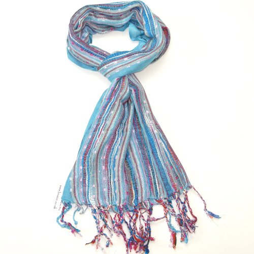 Women's Beautiful Turquoise Blue Scarf - Fashion scarves for girls