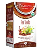 Davidson's Tea Red Vanilla, 25-Count Tea Bags, 1.3 Oz, (Pack Of 6)