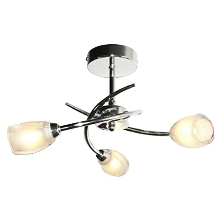 Pagazzi spike 3 light semi flush ceiling light