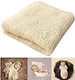 "Newborn Photography Props Newborn Baby Stretch Long Ripple Wrap Yarn Cloth Blanket by Bassion, Grey, 16"" x 60"": more info"