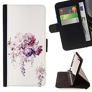 Momo Phone Case / Flip Funda de Cuero Case Cover - Flor blanca Ramo Begonia - LG G4c Curve H522Y (G4 MINI), NOT FOR LG G4