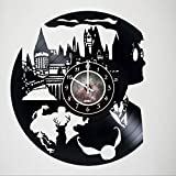 unique wall decals - Harry Potter - Vinyl Record Wall Clock - Poster - Stuff - Decal - Hogwarts - Get unique kids room wall decor - Gift ideas for boys and girls, teens, friends – Unique Art Design of Magic Wizards World