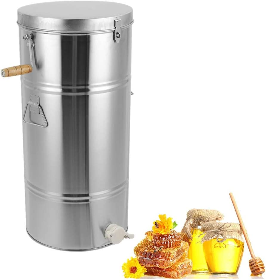 Greensen Honey Extracteur de miel manuel en acier inoxydable pour Imker 2 niches Taille du bo/îtier 25 x 45 cm