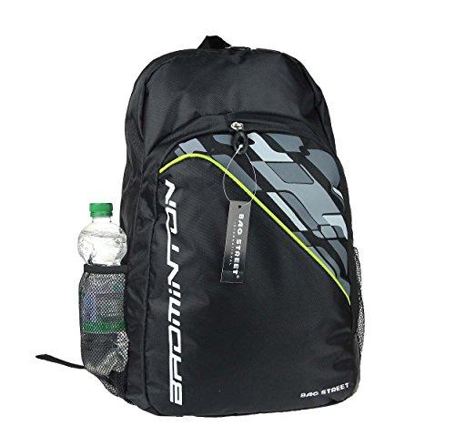 City Rucksack Schule Arbeit & Freizeit Bag Schulrucksack Sportrucksack Backpack Laptoprucksack + 1 kleine Leder SCHLÜßELTASCHE (Schwarz 30x46x16cm) Schwarz 28x46x18cm