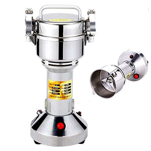 Suteck 150g Electric Grain Grinder Mill Powder Machine High Speed Commercial Swing Type Grinder Machine for Herb Pulverizer Grinding Various Grains Spice