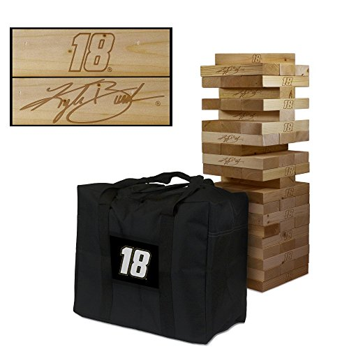 #18 Kyle Busch Wooden Tumble Tower Game by Victory Tailgate
