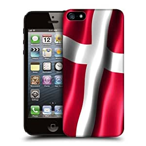 Case Fun Flag of Denmark Snap-on Hard Back Case Cover for Apple iPhone 5 / 5S