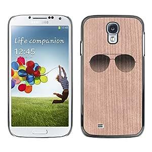 - / Shades Summer Cool Beach Sunglasses - - Funda Delgada Cubierta Case Cover de Madera / FOR Samsung Galaxy S4 i9500 i9508 i959 / Jordan Colourful Shop/