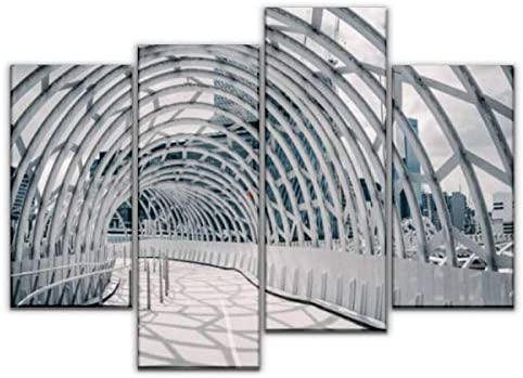 4 Panel Canvas Pictures Webb Bridge Melbourne Australia With Shadow Cast On The Ground Home Decor Gifts Canvas Wall Art For Your Living Room Buy Online At Best Price In Uae