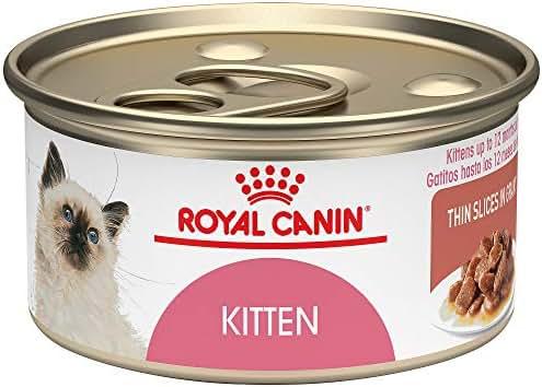 Royal Canin Feline Health Nutrition Thin Slices in Gravy Wet Kitten Food, 3 Ounce (Pack of 24)
