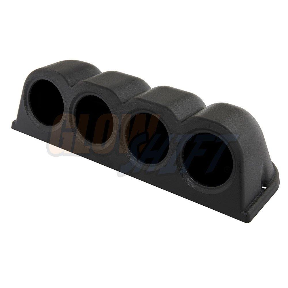 Mounts Gauge to Vehicles Dash Fits Any Make//Model 1 2-1//16 GlowShift Universal Black Single Gauge Metal Dashboard Pod 52mm