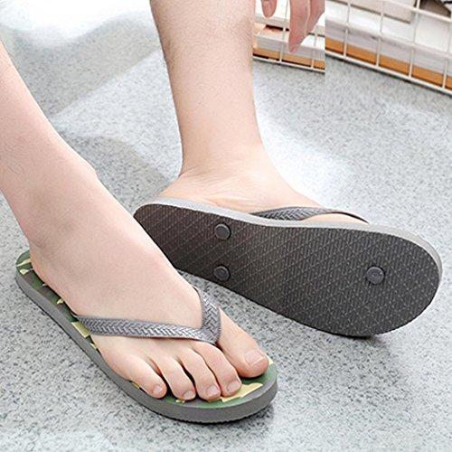 y Chanclas Sandalias de Hombre de para Camuflaje Baño Verano Playa Zapatos Gris Vestir QinMM de dxqqwf