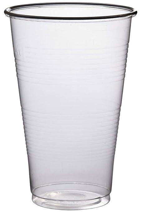 c983fa80b55 100 Super Cheap Disposable Half Pint Plastic Party Glasses Cups 300ml:  Amazon.co.uk: Kitchen & Home