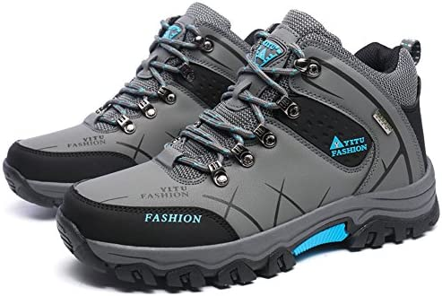 GOMNEAR Hiking Boots Men High Top