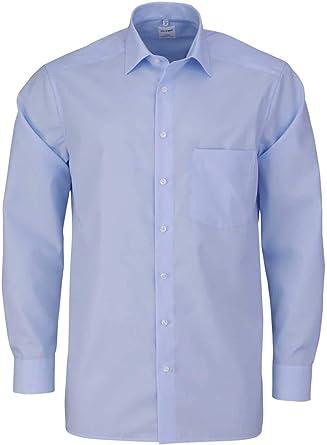 OLYMP Luxor Comfort - Camisa de Manga Larga con New Kent Popeline, Color Azul Claro: Amazon.es: Ropa y accesorios