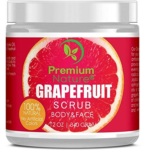 (Grapefruit Body Scrub Best Skin Exfoliating For Face And Lip Body 12oz)