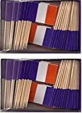 2 Boxes of Mini France Toothpick Flags%2