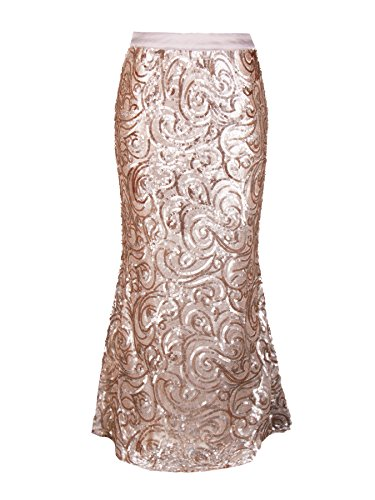 MS.READ Women's Kimora Skirt 20 Matte Gold by MS.READ