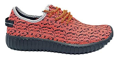 Shop Pretty Girl Damen Turnschuhe Athletisch Knit Mesh Running Light Weight Gehen Einfach Walking Casual Komfort Laufschuhe 2,0 Kylee Koralle