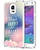 img - for Awaye Galaxy N4 Case for Women Ultra Slim Tpu Bumper Think Happy Be Happy book / textbook / text book