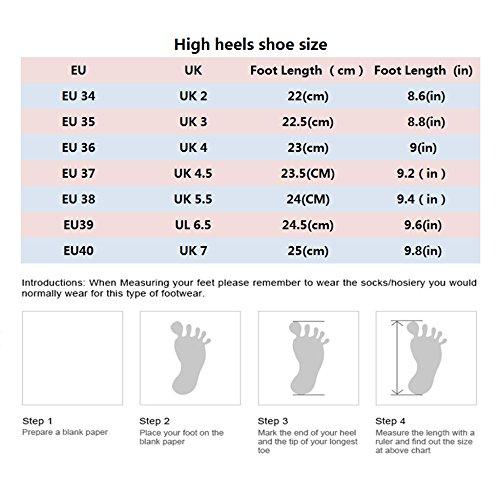 Chaussures Talons Mariage 12CM EU Femme Sexy des Rouge Femmes Travail Haute 10cm 5 Hauts UK avec Chaussures Mode 38 De 5 Nightclub Party Red De Mariage 6vw5qv1fW