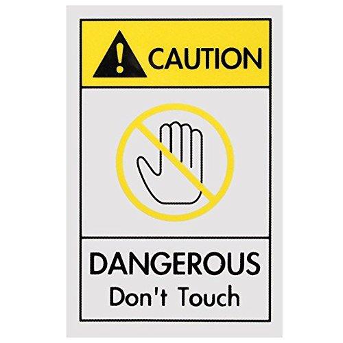 Doradus 40 x 60mm industriellen Fabrik Sichere Warnzeichen Gefährliche Achtung Zeichen nicht berühren