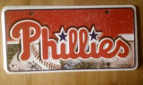 MLB Philadelphia Phillies Metal Auto Tag