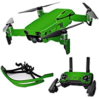 MightySkins Skin for DJI Mavic Air Drone - Lime Carbon Fiber | Max Combo Protective, Durable, and Unique Vinyl Decal wrap cover | Easy To Apply, Remove, and Change Styles | Made in the USA