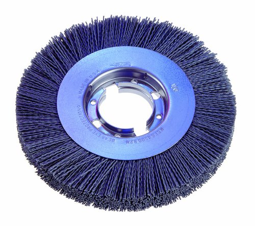 Osborn 22312 Wide Face Abrasive Nylon Wheel Brush, Silicon Carbide Bristle, 3600 RPM, 10