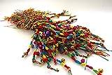 Kids/Teens Tibetan Woven Fabric String Braided Friendship Bracelet w/Bells Lot of 3