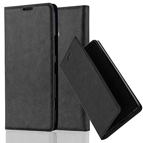 Cadorabo - Book Style Wallet with Stand Function for Nokia Lumia 1320 with Card Slot and invisible Magnetic Closure - Etui Case Cover Protection in NIGHT-BLACK