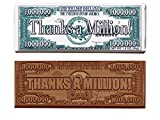 Thanks A Million Chocolate Bars (sold in sets of 50) Engraved Candy Gifts for Clients, Staff & Employees