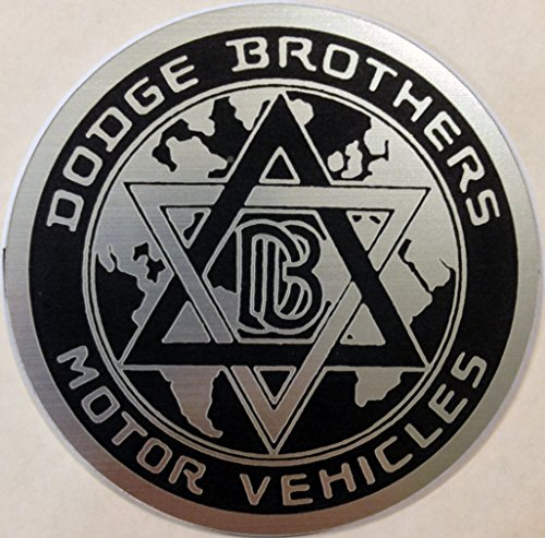 Dodge Brothers Bros. Challenger Charger Stick-on Badge Emblem Black (Dodge Brothers)