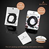 BEADNOVA 4mm Natural Black Lava Rock Stone Gemstone Round Loose Volcanic Beads with Free Crystal Stretch Cord for Jewelry Making