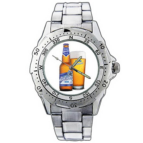 mens-wristwatches-pe01-1154-kokanee-glacier-beer-bottle-pub-stainless-steel-wrist-watch