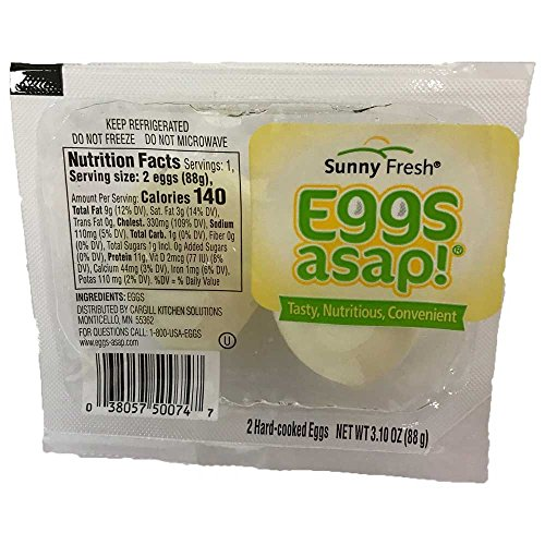 Sunny Fresh ASAP Hard Boiled Eggs, 2 count per pack -- 16 per case.