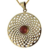 Brass Brass pendant Dalie sandstone antique golden chain women jewelry Tribal