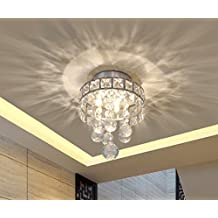 Mini Style 3-Light Chrome Finish Crystal Chandelier Pendent Light for Hallway,Bedroom,Kitchen,Kids Room,3x1W LED Bulb Included