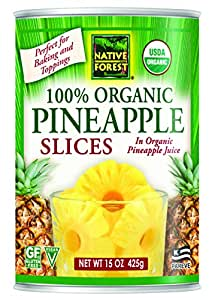 Native Forest Organic Pineapple Slices, 15 Ounce Cans (Pack of 6)