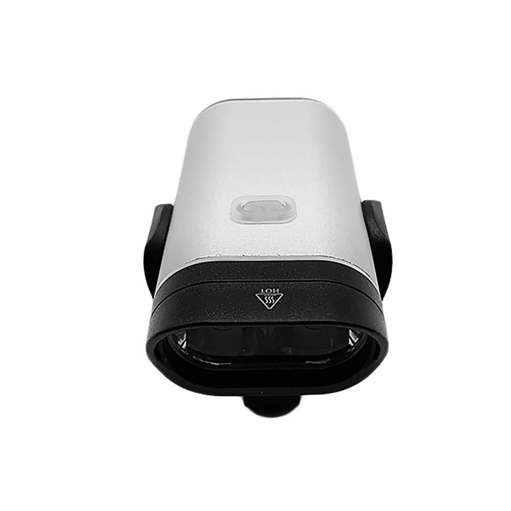 AFfeco - Fanale Anteriore per Bicicletta, con Ricarica USB, in Alluminio, Impermeabile