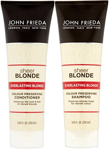 John Frieda Everlasting Blonde Color Preserving, DUO set Shampoo + Conditioner, 8.45 Ounce, 1 each (Frieda John Shampoo Blond)